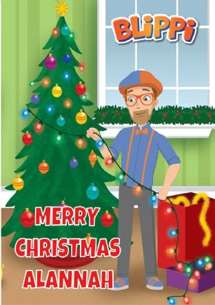 Personalised Blippi Christmas Card